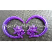Cheap Resin Spiral Ear Tapers , Purple Ear Stretcher Spiral Taper Plug Gauges for sale