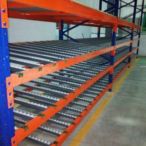 Cheap Logistic Equipment Carton Flow Rack / Warehouse Flow Racks Adjustable Pitch 75MM for sale