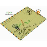 Cheap Standard Size Kraft Paper Custom Printed Envelopes With UPC Barcode Printing Edge for sale