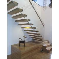 stainless steel handrails wood staircase floating stairs