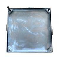 Cheap T2.50mm Galvanized Manhole Cover , Manhole Lid High Load Strength for sale