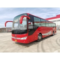 Cheap ZK6122 Used Coach Bus Yutong Brand 55 Seats 2017 Low Kilometer Rear Engine Steel Chassis VIP Seats for sale