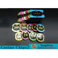 Cheap Difficult To Distort Authentic Casino Poker Chips , Crystal Dice Poker Chips  for sale