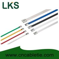 Buy cheap Colour Coated and uncoated Ball-lock stainless steel cable ties(self-locking) from wholesalers