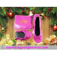 Cheap Very light, Thin Material High Grade Folding Ballet Slippers for Christmas Holiday Promotion Gift for sale