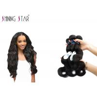 Cheap Three Brazilian Body Wave Unprocessed Hair / No Shedding Unprocessed Curly Human Hair for sale