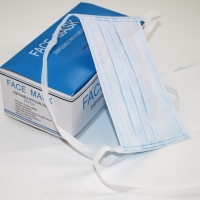 Cheap Disposable String tie-on on the back 3ply protective surgical non woven face mask tie on 3-ply face mask for sale
