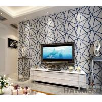 Modern Living Room 3D Suede Wallpaper 0.53*10M Geometric Design Wallcovering Exported