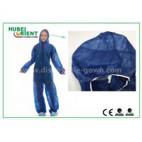 Cheap Disposable Non woven long sleeve coveralls With Elastic Wrists and Ankles , Size custom for sale