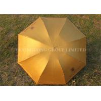 "Cheap Solid Color Gold Totes Windproof Folding Umbrella For Ladies 21"" X 8k Size for sale"
