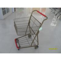 Cheap 40L Folding Grocery Shopping Trolley Q195 Low Carbon Steel For Supermarket for sale