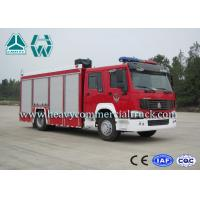 Cheap 266Hp 4X2 Fire Fighting Vehicles / Fire Department Ladder Truck for sale