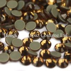 Cheap hot fix rhinestones Crystal flat back stones DMC Smoked Topaz ss16 ss20 ss30 for sale