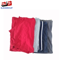 Cheap 1kg Packaging Colored T Shirt Rags for sale