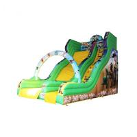 Cheap OEM Green Inflatable Castle Slide Customized Size Durable For Kindergarten for sale
