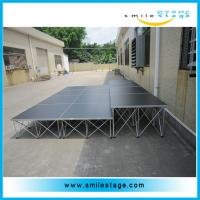Cheap Assembly Aluminum Mobile Lighting Stages with Portable Event Stage Platform for sale