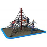 Cheap Galvanized Steel Pipe Rope Climbing Structure For Kindergarten KP-PW034 for sale