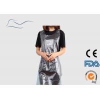 Cheap 10G Water Resistant Apron , Belt On Waist Disposable White Plastic Aprons for sale
