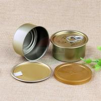 Cheap FDA Empty Tin Cans / Pop Top Easy Open Canned Fishery Ring Pull Metal Tin Food Cans for sale