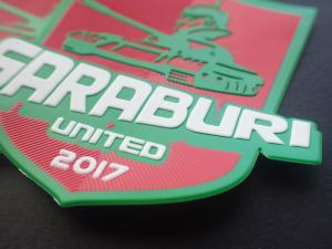 Cheap 3D Football Sports Logo TPU Embossed Patches For Outdoor Clothes for sale