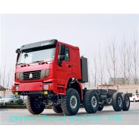 Cheap 336HP 371HP 60 Ton Semi Trailer Truck with 8x8 Wheel Drive , EURO II Standard for sale