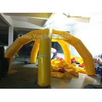 Cheap 5m Yellow 5 Legs Airtight Inflatable Marquee with air pump for sale