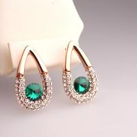 Cheap Hot New Arrival 1pc MOQ Free Shipping China Fashion Jewelry Waterdrop Earrings for Wedding Gem Green Earrings Earrings for sale