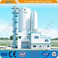 Cheap AC 380V 50HZ 240m3/h HLS240 Tower Batching Plant for sale