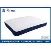 Cheap Bread Shaped Cool Silica Gel Memory Foam Pillow With Piping Zippered Cover for sale