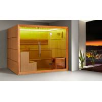 Cheap Monalisa M-6052 sauna room Canadian red cedar sauna enclosure dry steam sauna house household African white wood Ayous for sale
