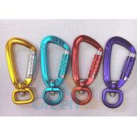 Cheap High Security Aluminum Snap Hook Carabiner With Eyelet Multi Colours Loaded 400KG for sale