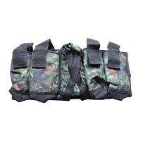 Cheap Nylon oxford Camouflage Paintball Tactical Gear 4+1 Paintball Harness for sale