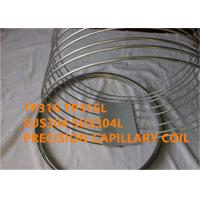 Quality TP316 / SUS316L Corrosion Resistant Stainless Steel Capillary Good Welding wholesale