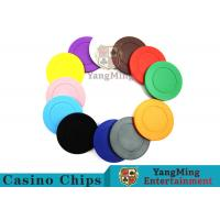 Cheap Roulette Dedicated Solid Color Plastic Poker Chips With Customized Print Logo for sale