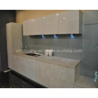Cheap White Laminated Kitchen Cabinet(High Glossy and High Hardness) for sale