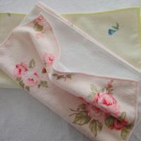 Cheap Flower printed tea 100% polyester towel for sale