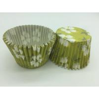 Cheap Green White Flower Greaseproof Cupcake Liners Disposable Mini Baking Tools Cake Decoration for sale