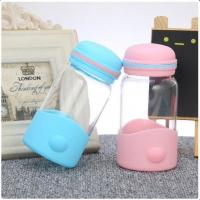 Silicone Sleeve Baby Bpa Free Bottles Glass Infant Bottles Special Type 320ml