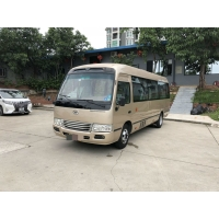 Cheap 130km/H 95kw Diesel 2017 Year 15 Seats Used Coaster Bus for sale