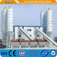 Cheap HZS180 2x55KW AC 380V 50HZ Stationary Batching Plant for sale