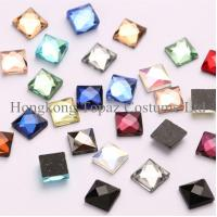 Cheap hot fix square rhinestone DMC quality crystal sheet loose stones for iron on for sale