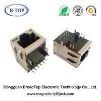 Cheap Tab Up Industrial RJ45 Connector , RJ45 Ethernet Socket Small Body 1 Port for sale