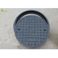 China Round Ductile Iron Manhole Cover Lid Drain Rain Grating Composite Well Lid Frame on sale