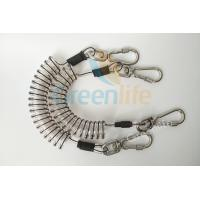 Cheap Core Reinforced Coil Tool Lanyard 1.5 Meters With Stainless Steel Clips for sale