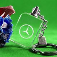 Cheap crystal benz keyring/CRYSTAL LED KEYCHAIN/crystal rectangle keyring/benz KEY CHAIN for sale