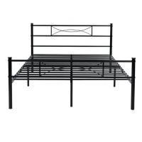 Cheap Black Wrought Iron Bed , Wrought Iron Platform Bed For  Hotel Family for sale