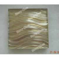 Cheap Decorative wet laminated glass with grooving for sale
