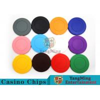 Cheap Roulette Dedicated / Solid Color ABS Poker Chips Can Be Custom or Print Logo for sale