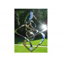 Cheap Contemporary High Glossing Mirror Stainless Steel Sculpture Kenitic Wind Sculpture for sale