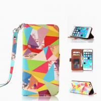 Cheap Hottest Colorful Painted Pattern Flip Leather Case W/Stand For Iphone 6 Plus for sale